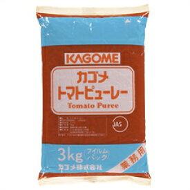 【送料無料】カゴメ トマトピューレーフィルム3kg×2ケース(全8本)