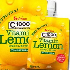 【送料無料】ハウス C1000ビタミンレモンゼリー180g×2ケース(全48本)【to】