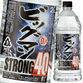 【送料無料】合同 40度 ビッグマンストロング2L×1ケース(全6本)