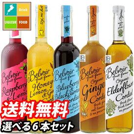 【送料無料】ユウキ食品 コーディアル500ml瓶 1本単位で選べる合計6本セット【選り取り】