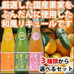 【送料無料】滋賀県・福井弥平商店 和の果のしずく3種類から選べる選り取り500ml×3本セット