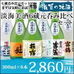 滋賀の地酒 淡海美酒人気の6蔵元飲み比べ300ml×6本セット