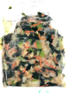 あさり と 春野菜 の 和え物 1kg【解凍してそのままお使いいただけます】小鉢・お弁当・あんかけ・炒め物に・麺類の具材に・・・【冷凍便】