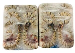 海老・ブラックタイガー海老・まとめてお買い得!【鮮度維持ブロック凍結・1.8kg×6枚・8/12】ブランド【ニチレイさくら】業務用、一般の方にも【冷凍便】