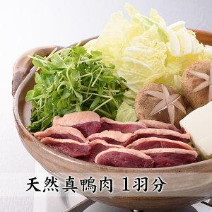 鍋用 天然真鴨肉スライス1羽分 冷凍 真空パック 天然 国産 ジビエ