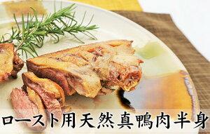 【冷凍】ロースト用天然真鴨肉半身 (やや大きいサイズ) 冷凍 天然 真鴨 簡単調理 ジビエ 国産