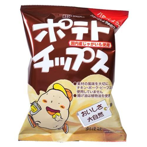 【創健社】ポテトチップスバターしょうゆ味60g※20個以上で別途送料必要