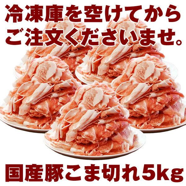 【送料無料】国産 豚こま切れ 5kg