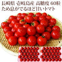 【K】壱岐のたから長崎県壱岐産高糖度フルティカトマトママなかせギフトセット60個