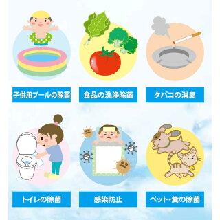 8使用例プールの除菌清掃タバコの消臭