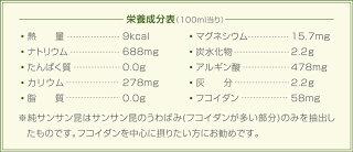 栄養成分アルギン酸・フコイダン・ヨウ化カリウム