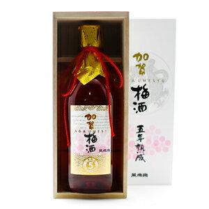 萬歳楽 五年熟成 加賀梅酒720ml(木箱入り)