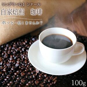 自家焙煎 珈琲豆 マンデリンG-1 シナール 100g 中深煎り こだわり 新生活 コーヒー好き 自分の味 趣味 やすらぎ リラックス ひととき
