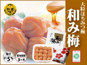 【紀州南高梅】大粒はちみつ梅 和み梅塩分控えめ上品な甘さに仕上げました。塩分約5%800g 化粧箱入りお中元
