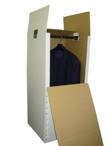 引越・保管用ハンガーボックス(エコノミータイプ)ダンボール/段ボール/衣装収納/ハンガーケース/梱包/箱