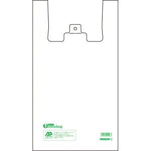 レジ袋 バイオエコナバッグ 45号 300枚(3袋) 乳白【450×530mmx厚み0.017mm】 バイオマスレジ袋 買い物袋 ゴミ袋、ビニール袋、HDPE袋、ポリ袋、取っ手付きビニール袋 レジ袋有料化対