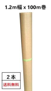 PEクロス紙(1.2m幅×100m巻)【2本/1セット】クラフト紙 クラフトロール紙