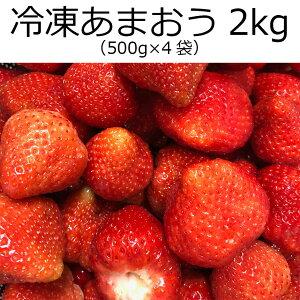 冷凍あまおう 2kg (500g×4袋) /無添加 無加糖 送料無料 いちご 冷凍いちご 冷凍イチゴ イチゴ スムージー フルーツ 国産