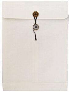 角2封筒 保存袋 マチ 紐付/ひも付 Sホワイト/白 120g 100枚
