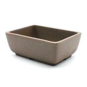 盆栽鉢 4.5号 ナデ角 ウ泥 四日市萬古焼 松柏用 送料無料