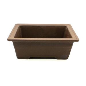 盆栽鉢 6号 長角下帯 ウ泥 瀬戸焼 松柏用 送料無料