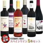 【送料無料】特別価格お勧めスペインワイン6本セット第2弾