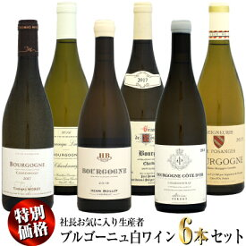 【家飲み応援・特別価格】社長お気に入り生産者 ブルゴーニュ 白ワイン 6本セット
