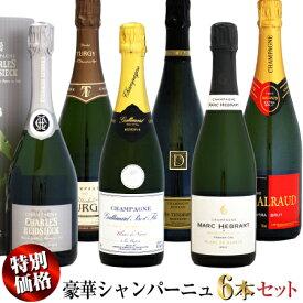 【スペシャル価格】豪華シャンパーニュ 6本セット
