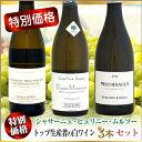 【特別価格】白ワイン トップ生産者の3本セット (シャサーニュ×ピュリニー×ムルソー)