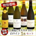 【特別価格】初夏にオススメ 辛口 白ワイン 5本セット