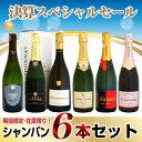 【決算スペシャルセール】 期間限定・在庫限り シャンパーニュ 6本セット