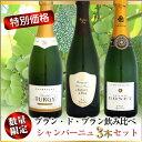 【24セット限定・特別価格】ブラン・ド・ブラン飲み比べ シャンパーニュ 3本セット