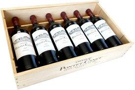 【送料無料】木箱入り パーフェクトワイン2本を含む シャトー・ポンテ・カネのバーチカル 6本セット