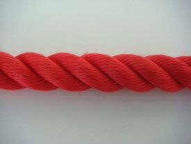 ロープ/切売り/カラーロープ/リプロンカラーロープ 赤 20mm