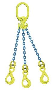 吊り具/マーテック/チェーンスリング/3点吊 10mm ロッキングフック 長さ調節機能付 8.3t /TG3‐BK
