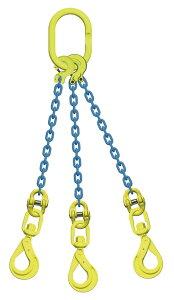 吊り具/マーテック/チェーンスリング/3点吊 10mm スイベルフック 8.3t /TL3‐BKL