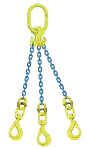 吊り具/マーテック/チェーンスリング/3点吊 8mm スイベルフック 長さ調節機能付 5.1t /TG3‐BKL