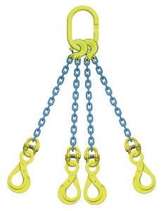 吊り具/マーテック/チェーンスリング/4点吊 10mm ロッキングフック 8.3t /TL4‐BK