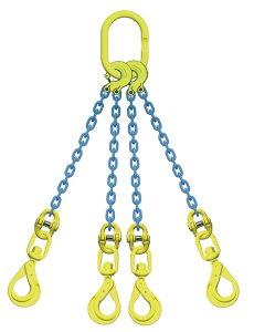 吊り具/マーテック/チェーンスリング/4点吊 8mm スイベルフック 5.1t /TL4‐BKL