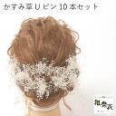 【成人式間に合います】 髪飾り かすみ草 プリザーブドフラワー ウェディング ヘッドドレス ヘアーアクセサリー 成人…