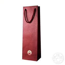 紙袋 1本用 赤色 720mlサイズ 【ラッピング】