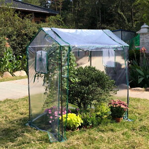 ビニールハウス 温室 家庭用 ガーデンハウス ベランダ フラワーラック ビニール温室 温室ハウス 温室棚