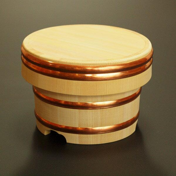 【送料無料】木製おひつ-木曽さわらの特級厚口江戸びつ 5合