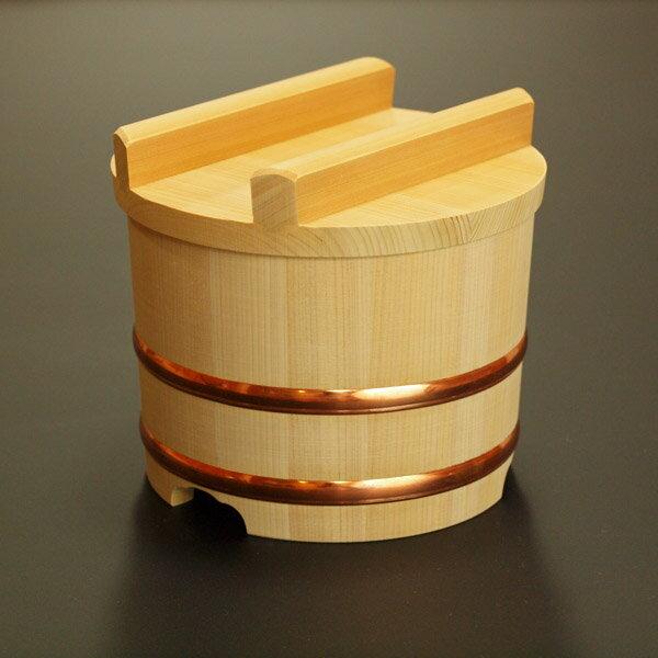 【送料無料】木製おひつ-木曽さわらの特級厚口のせびつ 5合