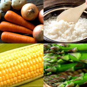 北海道 福袋 お米お野菜セット お買い得品 大地の恵み 農家が選ぶ新鮮で美味しい野菜とお米詰め合わせ じゃがいも タマネギ ニンジン アスパラ とうもろこし ななつぼし 無洗米 復興 応援