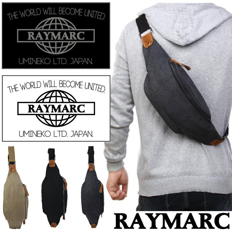 【正規品】RAYMARC 004 ボディバッグ メンズ レディース 男女兼用 ワンショルダー ショッピングバッグ 人気 男性 女性 通学 通勤 鞄 かばん バッグ 斜め掛け 斜めがけ 父の日 母の日 シンプル プレゼント 帆布 レイマーク