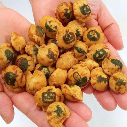 ハロウィンのプリント豆菓子「ハロウィーン豆助」50g■10P03Dec16■