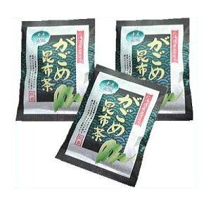 がごめ昆布茶40g(2g×20袋)3袋セット体活性ネバネバ成分で老けないカラダ作り!【北海道産真昆布使用】■10P03Dec16■