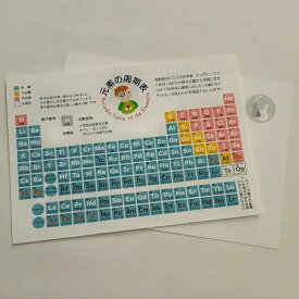 ユカコさんの「元素の周期表ポストカード」