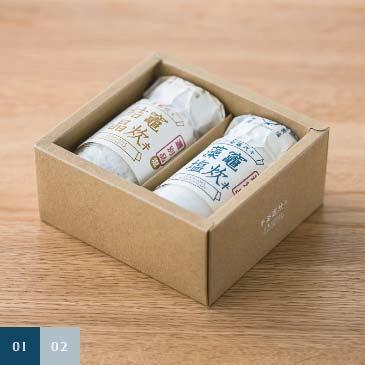 塩竈の藻塩 竈炊キ結晶40g ・ 竈炊キ藻塩50g ギフトボックス